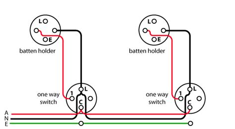 electrical wiring 1 way switch wiring lighting diagram
