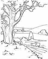 Pemandangan Alam Gambar Mewarnai Pegunungan Coloring Sketch Larger Gambarcoloring Credit sketch template
