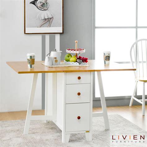 meja makan lipat transformer livien furniture