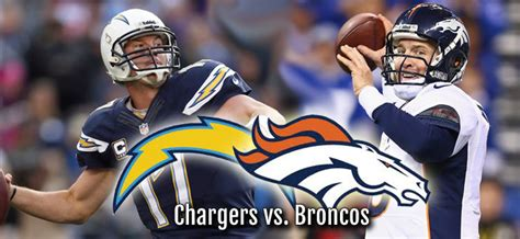 San Diego Chargers Vs. Denver Broncos Nfl Playoff Game On