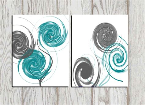 wall decor etsy abstract abstract print gray teal white printable home