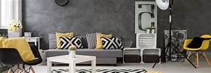 Deco Avec Du Gris : quelles couleurs assortir dans un salon gris cdiscount ~ Zukunftsfamilie.com Idées de Décoration