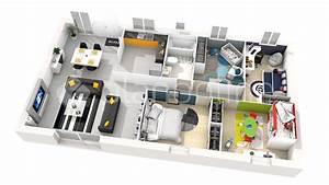 maison alya 100 essentielle With charming plan maison 3d gratuit 14 maison 2 appartements top maison