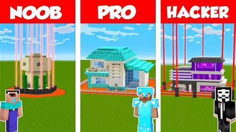 minecraft noob  pro  hacker safest house defense challenge  minecraft animation youtube