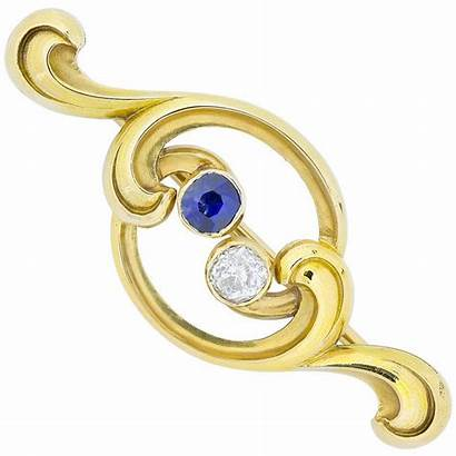 Faberge Brooch Sapphire Diamond Yellow Brooches Russian