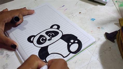 panda dibujado para marcar cuadernos para ni 241 a estad 237 stica