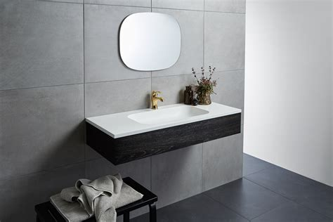 corian vanity integrate corian basins into vanity tops for a seamless