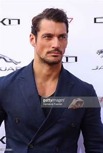 Model David Gandy attends the Jaguar world premiere of a ...