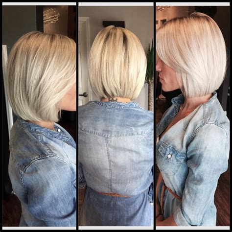 platinum blonde long bob lob haircut platinum blonde