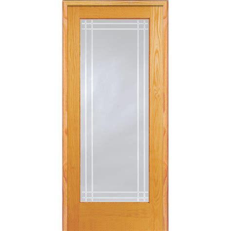 Depot Glass Doors Interior by Mmi Door 32 In X 80 In Left Unfinished Pine Glass