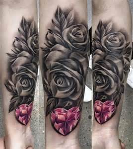 Black Roses and Heart Tattoo
