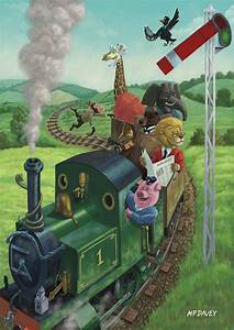 Animal Train Journey Painting by Martin Davey