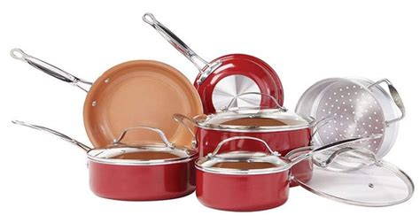 bulbhead  red copper cookware set reviews