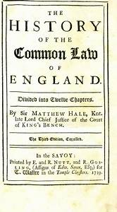 The History Of The Common Law Of England Divided Into
