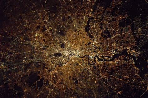 London At Night Seen From The International Space Station  Earth Blog