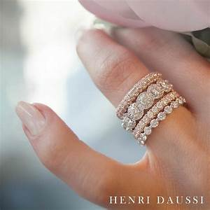 add a touch of sparkle to your henridaussi stack with With stacked diamond wedding rings