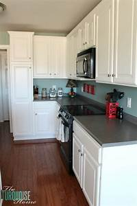 painted kitchen cabinets with benjamin moore simply white With kitchen colors with white cabinets with scottish wall art