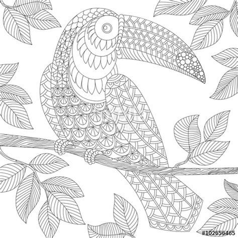 Volwassen Kleurplaat Wolf by Quot Toucan Antistress Coloring Page Black And White