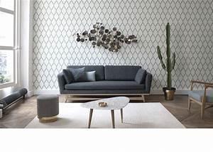 canap gris fonc excellent hga canap scandinave places With tapis de couloir avec canapé angle convertible longueur 210 cm
