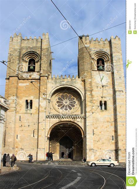 se kathedrale  alfama lissabon portugal redaktionelles