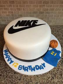 Ninja Turtle Decorations For Cakes by Nike Basketball Birthday Cake Cakecentral Com
