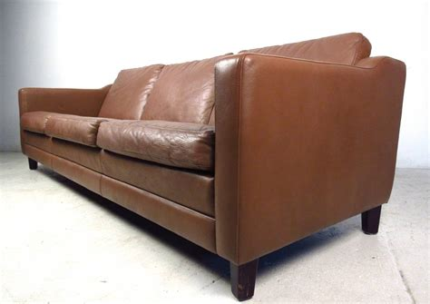 mid century leather sofa mid century modern danish leather sofa in the style of