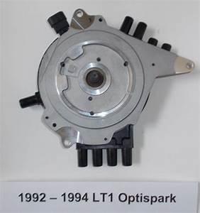 Camaro  Firebird 92-94 Lt1 5 7l 350 Optispark Distributor  Black Spark Plug Wires