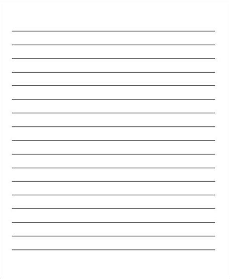preschool handwriting paper 29 printable lined paper templates free amp premium templates 858