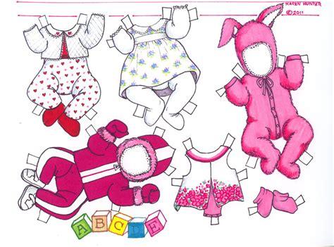 bonnie  baby paper doll  karen hunter margess blog