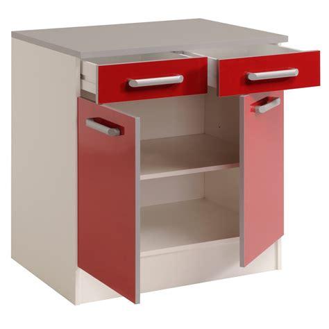 portes de cuisine meuble bas de cuisine contemporain 80 cm 2 portes 2 tiroirs blanc brillant jackie meuble