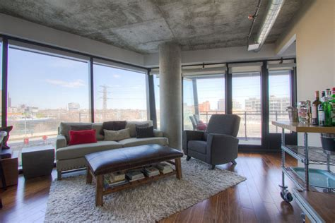 Light-Filled Contemporary Living Rooms : Light-filled Loft With A View In Corktown