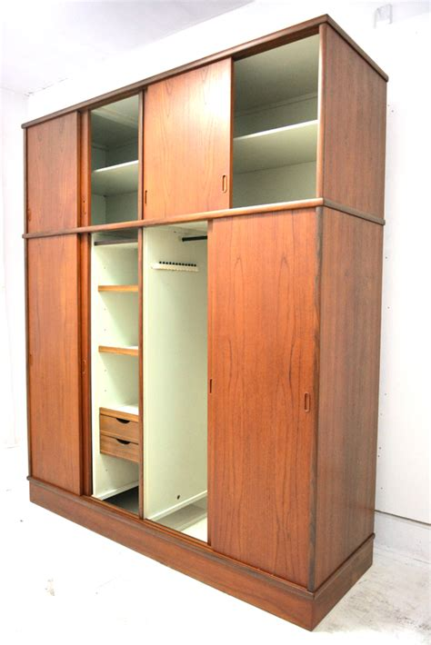 danish vintage teak wardrobe danish homestore