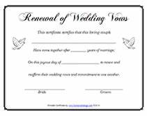 wedding renewal vows ceremony samples wedding invitation With vow renewal certificate template