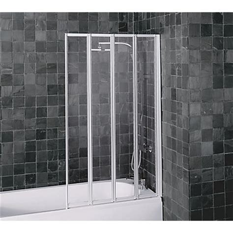aqualux folding  panel shower screen white clear