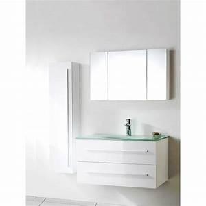 meuble salle de bain vasque verre wikiliafr With meuble de salle de bain avec vasque en verre