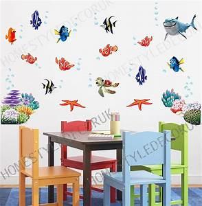 Finding nemo wall stickers sea fish shark bathroom decor