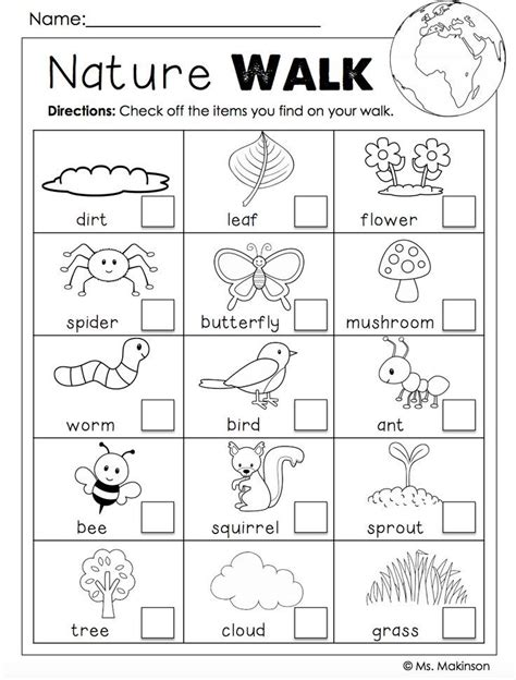 free earth day printables nature walk scavenger hunt