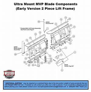 Mvp  Early Version 2 Piece Lift Frame  - V-plows - Ultramount Snowplows