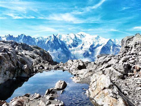 point de vue sur le mont blanc depuis planpraz et le br 233 vent carnets nordiques