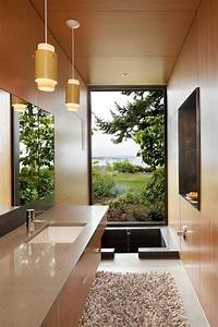 A, Sunken, Bathtub, Is, A, Creative, Feature, In, This, Master, Bathroom