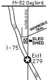 Sled Shed Gaylord Mi by Located In Gaylord Michigan