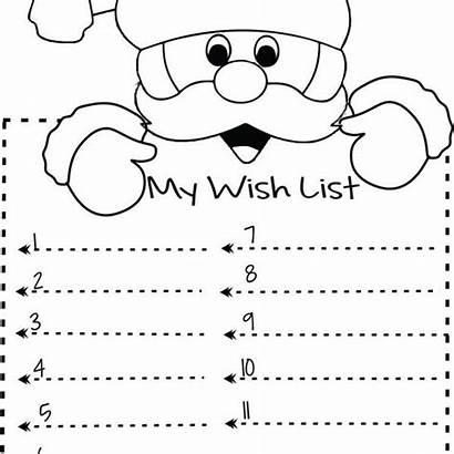Christmas Wish Printable Santa Template Lists Lisbonlx