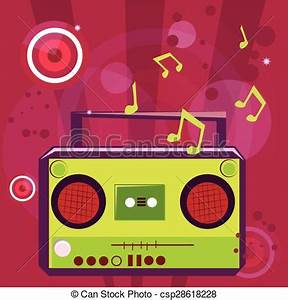 Vector Illustration of Pop music background with musical ...