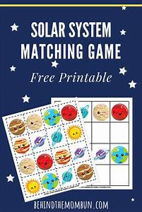 Matching Games For Kids  Solar System