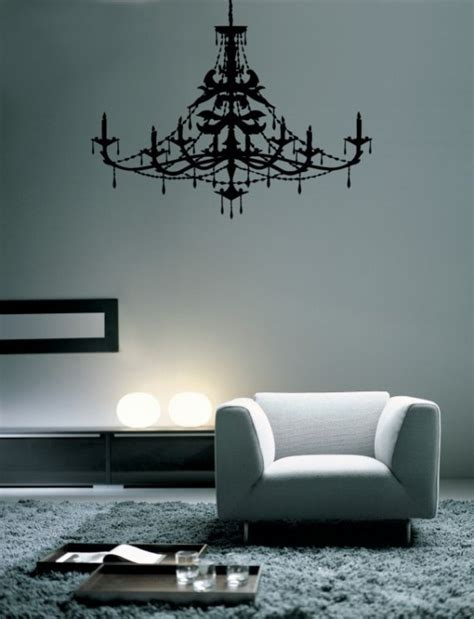 chandelier vinyl wall decal by decordesigns on etsy
