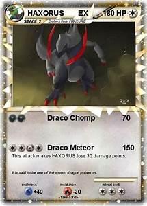 Pokémon HAXORUS EX 9 9 - Draco Chomp - My Pokemon Card