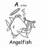Coloring Angelfish Pages Printable Cartoon Colouring Fish Town Animals Animal Ch Sheet Getcoloringpages sketch template