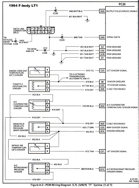 94 Lt1 Pcm Wiring Diagram by 93 To 94 Lt1 Conversion No Comunication Through