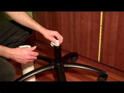 how to fix office chair that keeps sinking pvc pipe