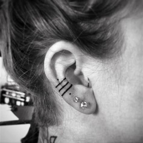 ideas   ear tattoo  pinterest ear tattoos cute piercings   ear
